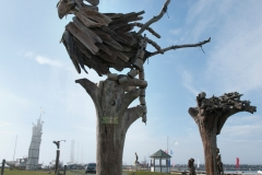Gaspésie - Ste Anne des Monts - festival du bois flotté, rendez-vous des sculpteurs