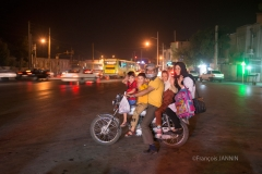 Shiraz, Family on motorcycle